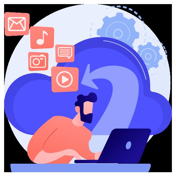 Envíe archivos, imágenes, videos y documentos por chat