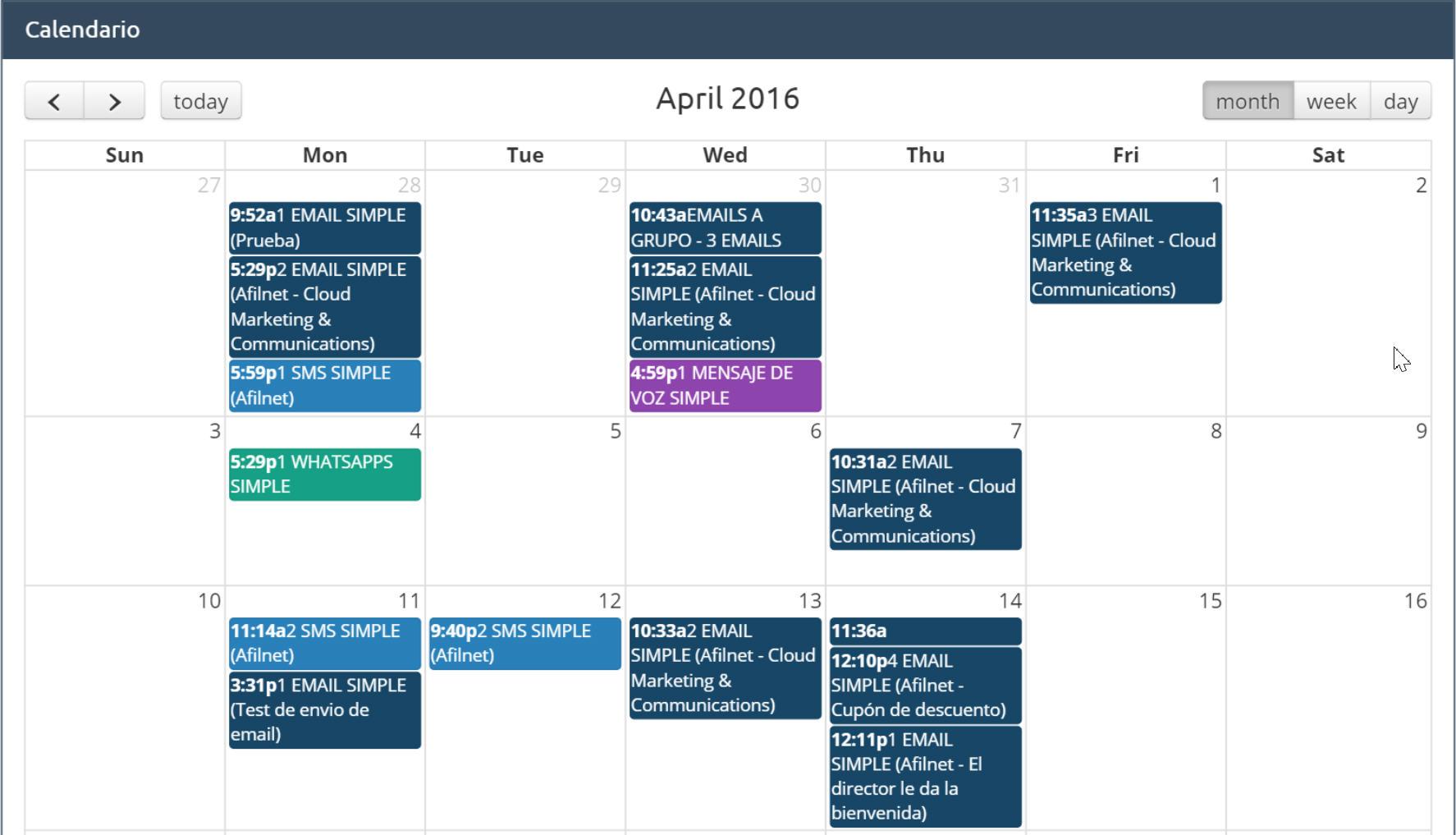Sendungen Kalendar