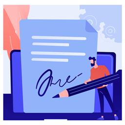 发送和签订合同